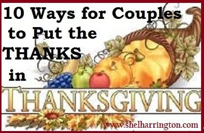 10 Ways for Couples to Put the THANKS in Thanksgiving