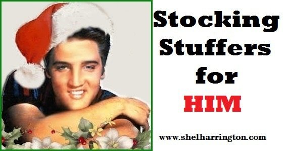 Elvis with stocking stuffers for Him