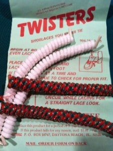 Twister curly shoelaces come in many colors - some even sparkle!