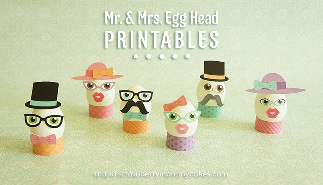 Easter Egg Head Printables
