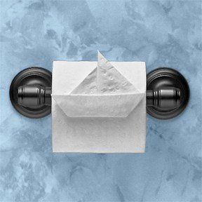 toilet paper sailboat