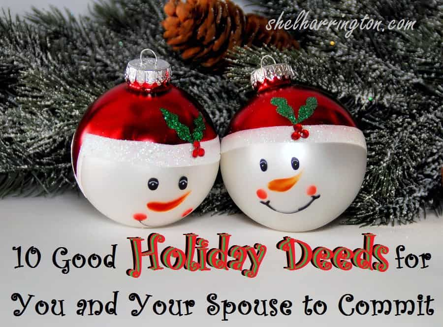 10 Good Holiday Deeds You and Your Spouse Can Commit