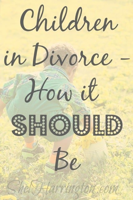 Children in Divorce - How it SHOULD Be