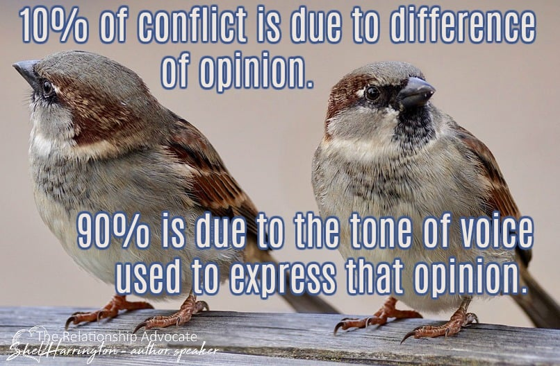 10% of conflict due to opinion