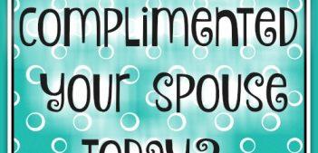 Compliment your spouse